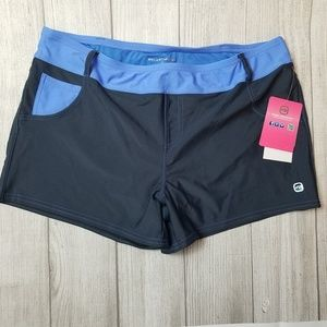 NWT Free Country Blue Swim Shorts Size XL